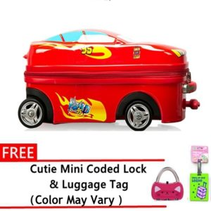 pilot-kids-pc-4-wheel-toy-car-travel-luggage-red-with-free-cutie-lock-and-luggage-tag
