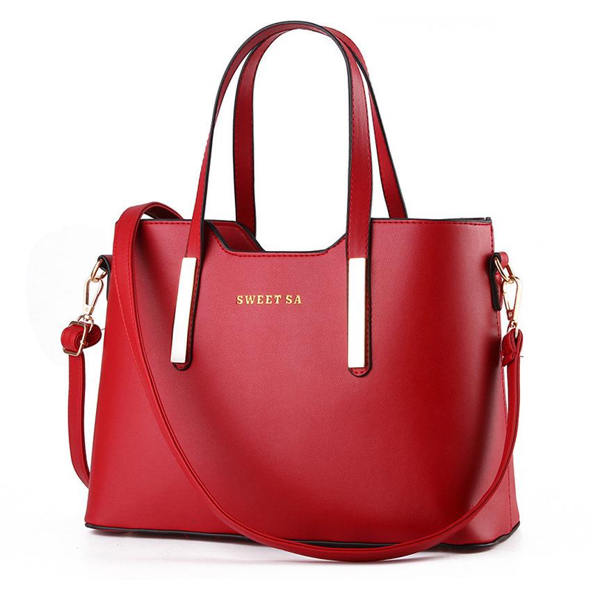 Retro handbags large shoulder bag women tote bags Red – Intl ...