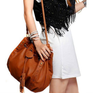 woman-synthetic-leather-tassel-messenger-bag-brown