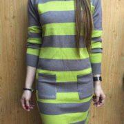 Elisa Fresh Knitted Dress S-L Free Sizeapple-green