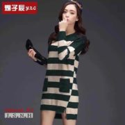 Elisa Fresh Knitted Dress S-L Free Sizegreen1
