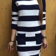Elisa Fresh Knitted Dress S-L Free Sizenavy-blue
