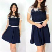 Fabienne Chic Dress S-M Free SizeNavy-blue