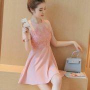 Fabienne Chic Dress S-M Free SizePeach