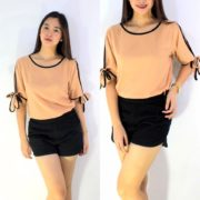 Ginny Fresh Tops S-L Free Size Brown
