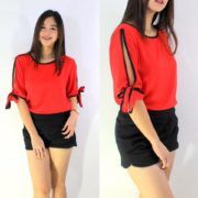 Ginny Fresh Tops S-L Free Size Red