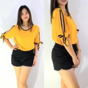 Ginny Fresh Tops S-L Free Size Yellow