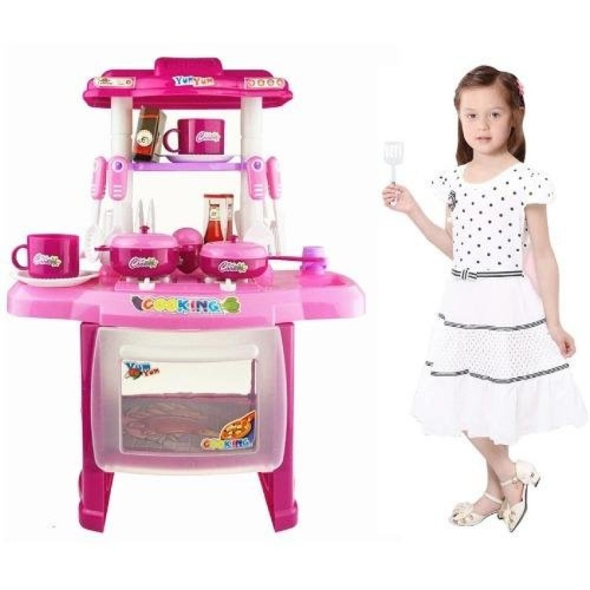 Kitchen Set With Light And Sound: Kids Children Babies Kitchen Cooking Toy Play Set With