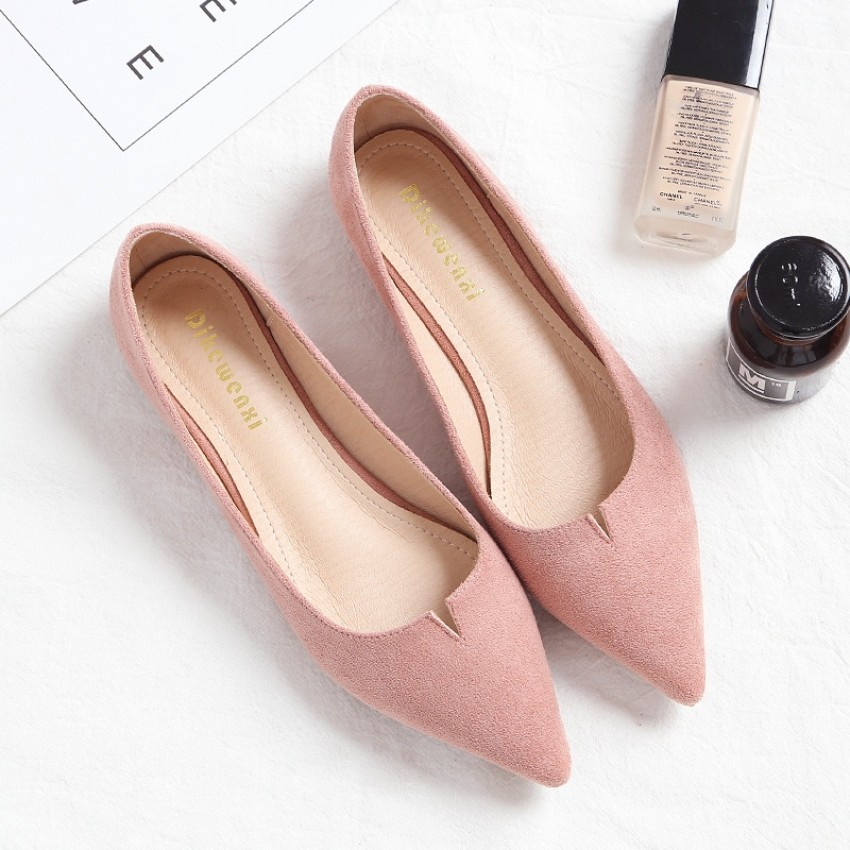 Korean style autumn new style pointed shoes flat shoes mayflor and me online Korean fashion style shoes