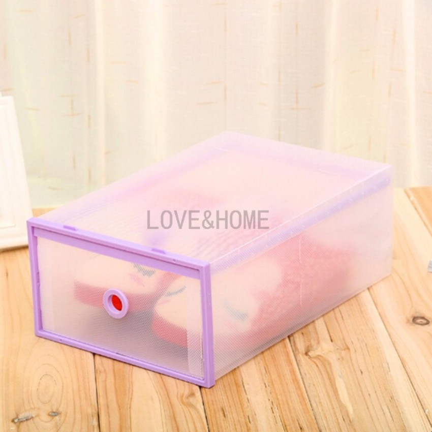 LOVEu0026HOME Multi-use Foldable Plastic Transparent Drawer Case Shoe Storage ... & LOVEu0026HOME Multi-use Foldable Plastic Transparent Drawer Case Shoe ...